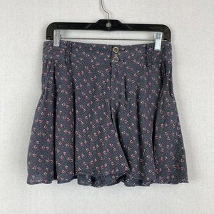 Free People Floral Shorts with Side Pockets